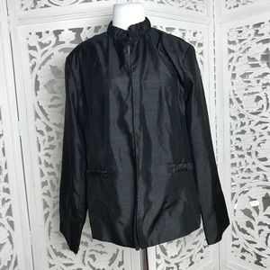 Jackets & Blazers - Levine Classic Black light jacket 18 Ruched Pocket